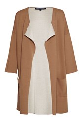 French Connection Gemini Knit Oversized Cardigan Brown