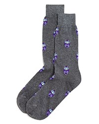 Bloomingdale's The Men's Store At Owl Heathered Socks Charcoal