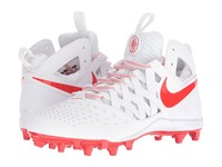 Nike Huarache V Lax White Light Crimson Men's Cleated Shoes