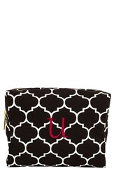 Cathy's Concepts Monogram Cosmetics Case Black U
