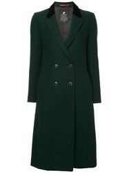 Loveless Double Breasted Flared Coat Green