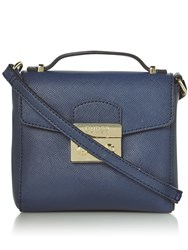 Guess Aria Lock Flapover Tote Bag Blue
