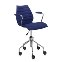 Kartell Maui Soft Swivel Armchair Blue