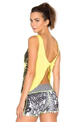 Pink Lotus Learn Tank With Tie Back Yellow