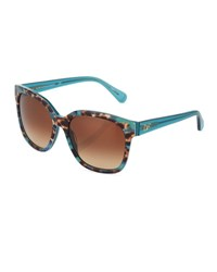Marchon Eyewear Julianna Animal Print Square Plastic Sunglasses