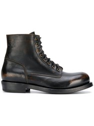 Buttero Lace Up Ankle Boots Black