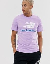 New Balance T Shirt With Large Logo In Pink Pink