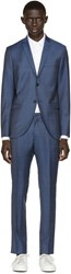 Tiger Of Sweden Blue Windowpane Jil Suit