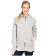 Carhartt Sandpoint Zip Front Sweatshirt Asphalt Heather Women's Sweatshirt Gray