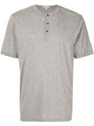 James Perse Henley T Shirt Grey