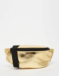 Asos Metallic Bum Bag Gold