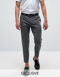 Noak Skinny Tapered Jersey Trousers Charcoal Grey