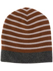 Sofie D'hoore Striped Knitted Beanie Brown