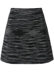 M Missoni A Line Skirt Women Polyamide Viscose Wool 44 Black