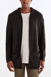 Koto Arkashe Open Front Hooded Cardigan Sweater Navy