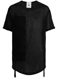 Lost And Found Rooms Asymmetric Hem T Shirt Cotton Black
