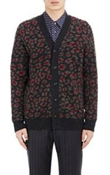 Marc Jacobs Leopard Print Cardigan Grey