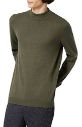 Topman Men's Turtleneck Sweater Olive