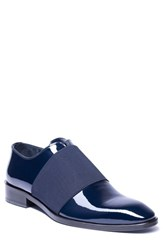Jared Lang Vincenzo Whole Cut Slip On Navy Leather