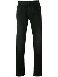Dolce And Gabbana Slim Jeans Men Cotton Calf Leather Zamac 46 Black