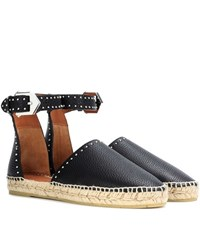 Givenchy Leather Espadrilles Black