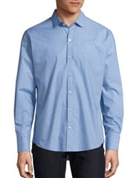 Zachary Prell Plaid Long Sleeve Shirt Light Blue