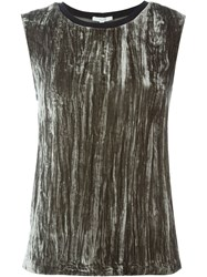 Dagmar Velvet Tank Top Green