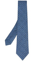 Kiton White And Yellow Circle Spot Tie Men Cotton One Size Blue