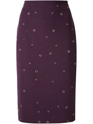 Elizabeth And James Fringed Faux Leather Skirt Pink And Purple