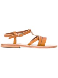K. Jacques Marcia Open Toe Sandals Leather Brown