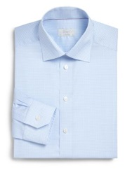 Eton Of Sweden Regular Fit Gingham Dress Shirt Blue