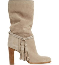 Dune Ryleigh Tasseled Suede Calf Boots Taupe Suede