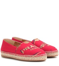 Prada Embroidered Espadrilles