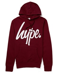 Hype. Burgundy Hoodie With White Script