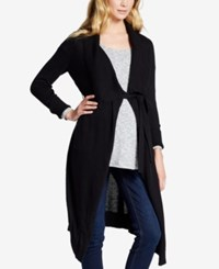 Jessica Simpson Maternity Open Front Cardigan Black