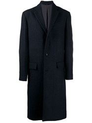 Oamc Long Overcoat Blue