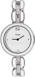 Fendi Silver And White My Way Fur Glamy Watch