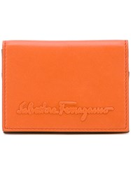 Salvatore Ferragamo Branded Wallet Yellow Orange