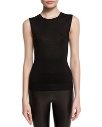 Ralph Lauren Collection Sleeveless Crewneck Silk Shell Black