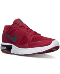 Nike Men's Air Max Sequent Running Sneakers From Finish Line Gym Red Mtlc Hematite Whi