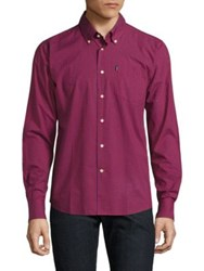 Barbour Leonard Checked Shirt Rich Red