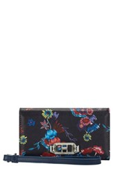 Rebecca Minkoff Love Lock Iphone 7 8 And 7 8 Plus Leather Wristlet Folio Blue Navy