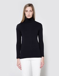Graphpaper Circular Rib Turtle Neck Navy