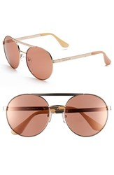 Women's Isaac Mizrahi New York 56Mm Round Sunglasses Rose Gold