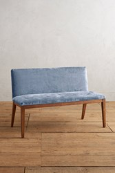 Anthropologie Slub Velvet Emrys Bench Sky