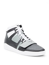 Creative Recreation Manjo Textured Lace Up Sneakers White Black