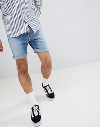 Lee Rider Shorts With Doodle Print Placed Doodle Blue