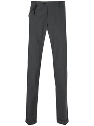 Berwich Rope Clip Detail Trousers Grey