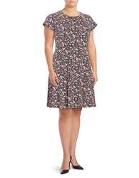 Michael Michael Kors Plus Floral A Line Dress Ballet