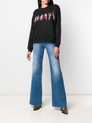 Pinko Flared High Rise Jeans Blue